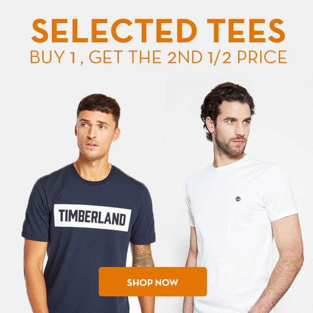 Selected Tees Buy 1, Get the 2nd 1/2 Price >