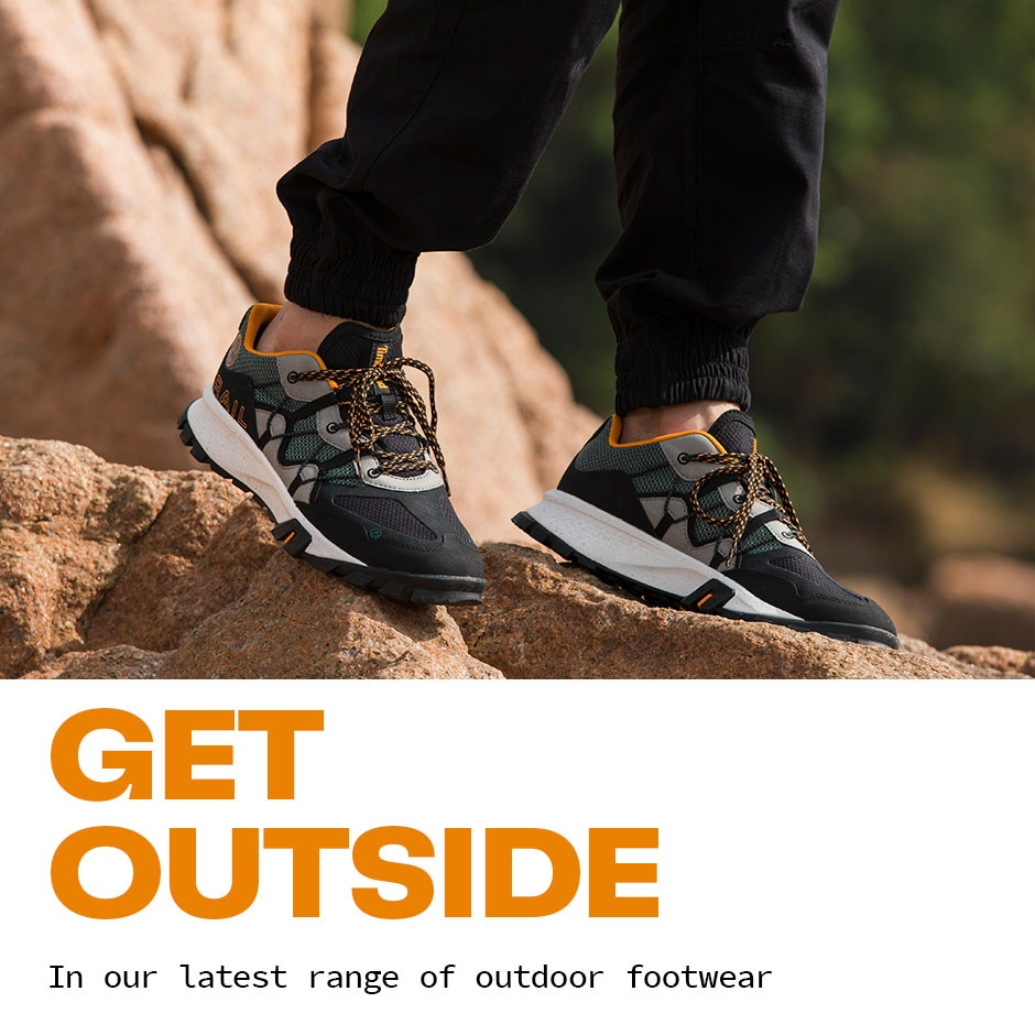 Get Outside. Our latest outdoor footwear
